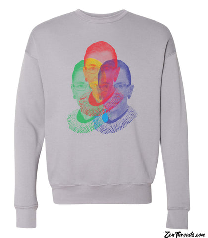 RGB Ruth Bader Ginsburg Pullover Fleece Bella Canvas Drop Shoulder Sweatshirt supreme court