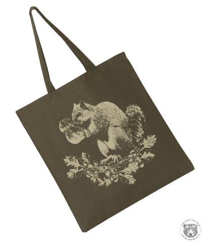 SQUIRREL Boxer - Eco-Friendly Market Tote Bag - Hand Screen printed (Ships FREE!)