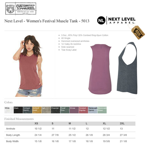 Womens California Map Flowy Festival Muscle Tank workout fitness tee - Next Level 5013