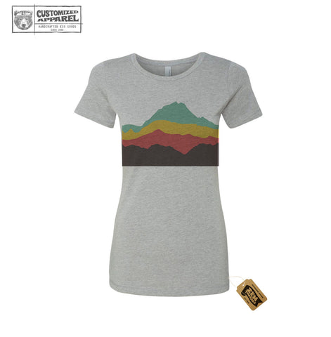Womens MOUNTAINS T-Shirt California Landscape Abstract