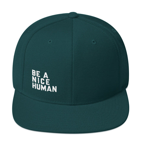 Be A Nice Human Snapback Hat - Zen Threads