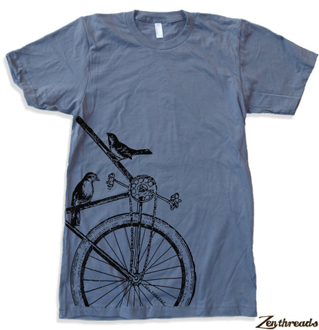 Mens SPARROWS on a BIKE T Shirt s m l xl xxl (+ Color Options)