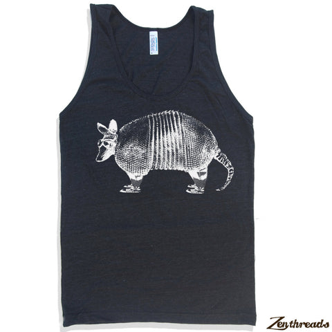 Unisex ARMADILLO Tri Blend Tank Top -hand screen printed xs s m l xl xxl (+ Colors) - Zen Threads