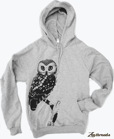 Unisex Urban OWL Fleece Classic Pullover Hoody Sweatshirt - (+ Color Options) xs s m l xl xxl