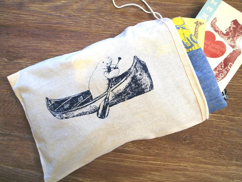 "GIFT BAG / 8x11"" MANATEE (in a Canoe) - Zen Threads"
