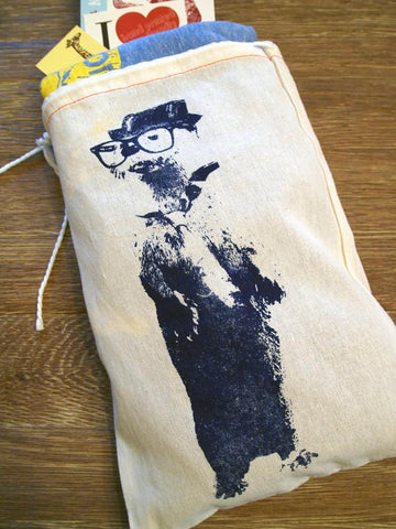 "GIFT BAG / 8x11"" OTTER (in a Fedora) - Zen Threads"