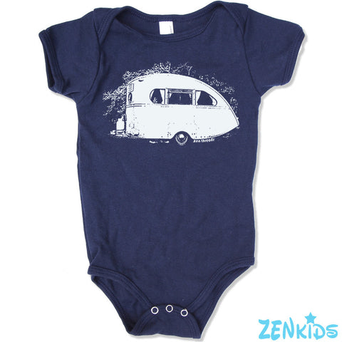 Baby One-Piece Vintage CAMPER Eco screen printed - Zen Threads
