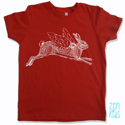 KIDS Flying RABBIT Premium vintage soft Tee T-Shirt Fine Jersey T-Shirt - Zen Threads