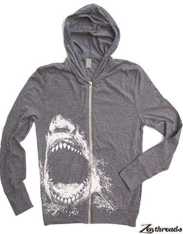 Unisex SHARK Eco Zip Lightweight Hoody -  xs s m l xl (+ Colors)