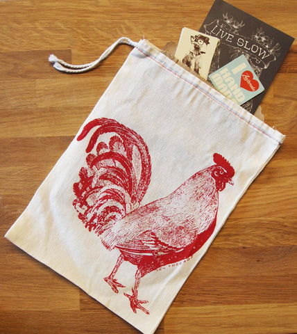 "GIFT BAG / 8x11"" - ROOSTER - Zen Threads"