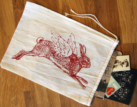 "GIFT BAG / 8x11"" - Flying RABBIT - Zen Threads"
