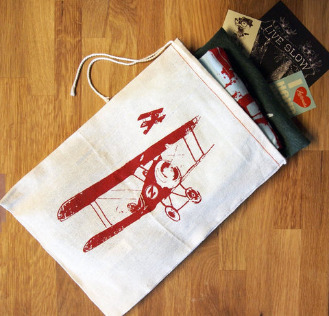 "GIFT BAG - 8 x11"" Vintage PLANES - Zen Threads"