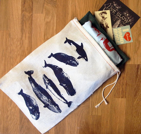 "GIFT BAG - 8 x11"" WHALES Collection - Zen Threads"