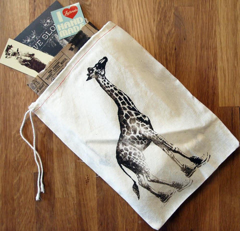 "GIFT BAG - 8 x11"" GIRAFFE (in High Tops) - Zen Threads"