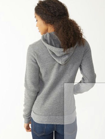 Women's SLOTH 2 (Live Slow) Alternative Apparel Fleece Eco-Grey Pullover Hoody S M L (limited print run)