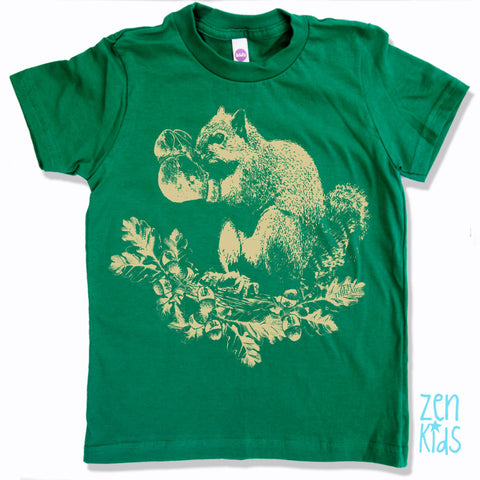 Kids Boxing SQUIRREL Premium vintage soft Tee T-Shirt Fine Jersey T-Shirt - Zen Threads