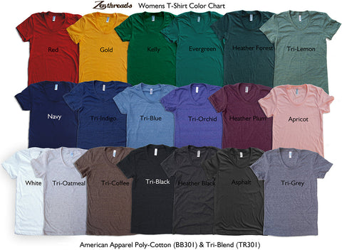Women's POE t shirt american apparel  S M L XL  (16 Color Options)