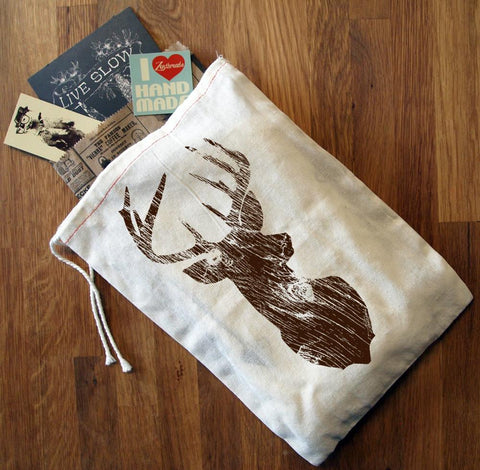 "GIFT BAG 8x11"" DEER - Zen Threads"