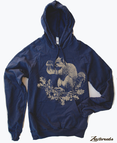 Unisex - Boxing SQUIRREL - Fleece PULLOVER Hoody (+ Color Options) s xs s m l xl xxl - Zen Threads