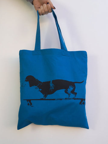 DACHSHUND Longboard Eco-Friendly Market Tote Bag - Zen Threads