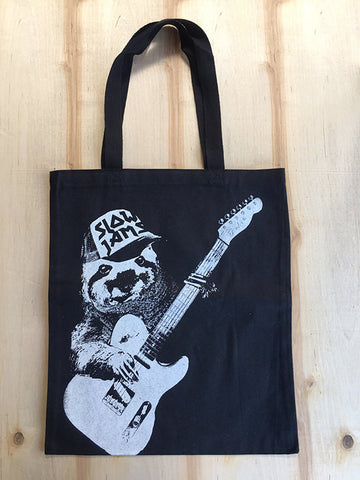 SLOTH Slow Jams - Eco-Friendly Market Tote Bag - Hand Screen printed