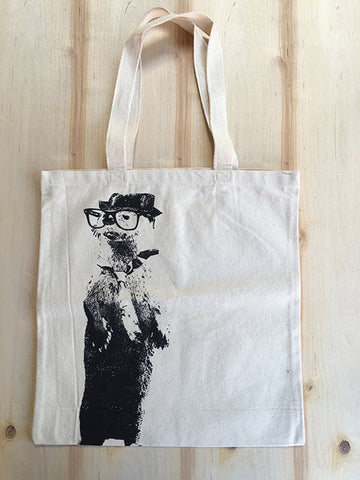 Smart OTTER - Eco-Friendly Market Tote Bag - Hand Screen printed - Zen Threads