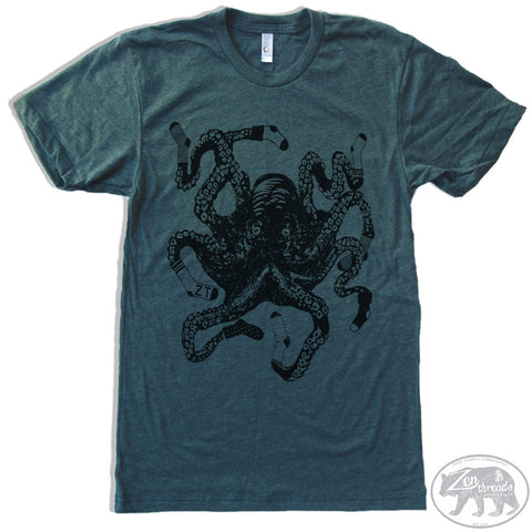 Men's SOCKTOPUS T-shirt  S M L XL XXL  (++ Color Options - Zen Threads