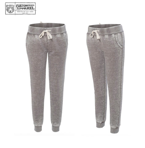 Women's Acid Wash Fleece Drawstring Joggers