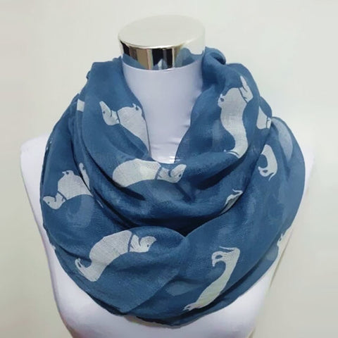 Dachshund Dog Print infinity scarf - Zen Threads