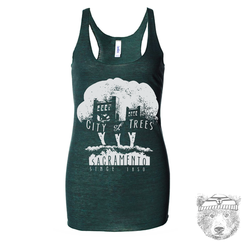 Women's CITY OF TREES - Tri-Blend Racerback Tagless Tank Top [+Colors] s m l xl xxl
