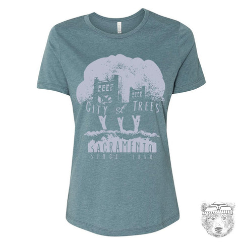 Women's CITY OF TREES Relaxed Boyfriend Tee t shirt [+Colors] S M L XL XXL