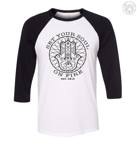 SET YOUR SOUL ON FIRE Baseball Jersey - Zen Threads