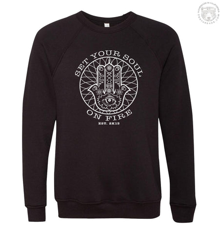SET YOUR SOUL ON FIRE Unisex Fleece Pullover Sweatshirt - Zen Threads