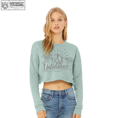 SOL UNLEASHED Crop Crew Sweatshirt