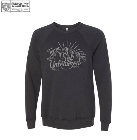 SOL UNLEASHED Unisex Fleece Pullover Crew Sweatshirt