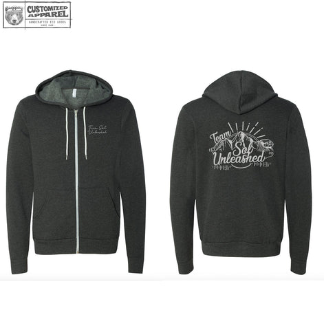 Team Sol Unleashed Fleece Blend Zip Hoody - Hand Screen Printed