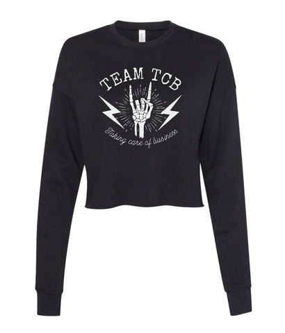 Team TCB Rock On BELLA + CANVAS - Women's Cropped Crew Fleece