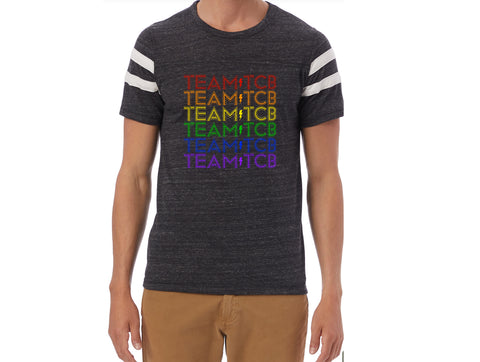 Team TCB Rainbow Alternative - Eco-Jersey Football Tee