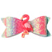 1 Pair Glitter Flamingo Hairbows