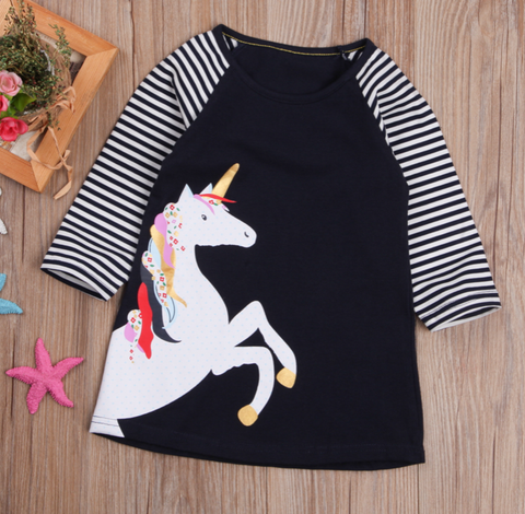 Unicorn and stripes tunic