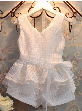 French Chic white short set