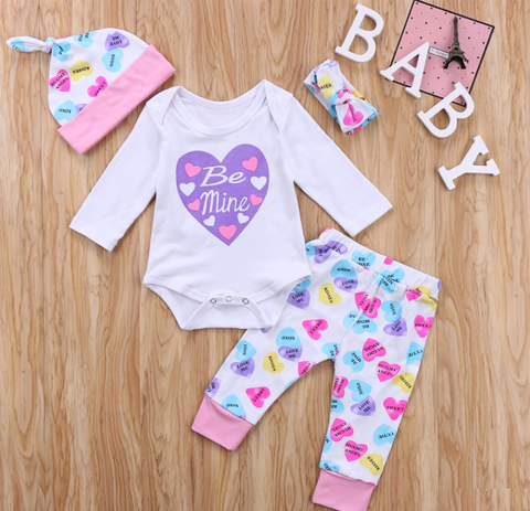 Love heart sweetheart 4 piece set