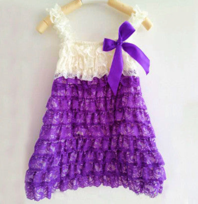 Purple and ivory summer dress