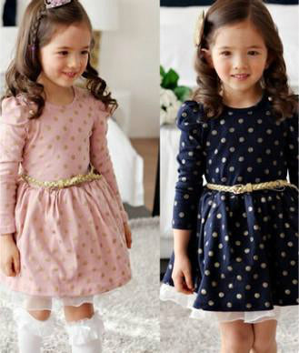 Pretty polka dot dress- Pink and Navy