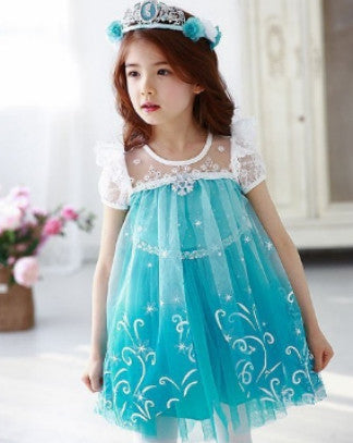 Gorgeous decorated dress- blue