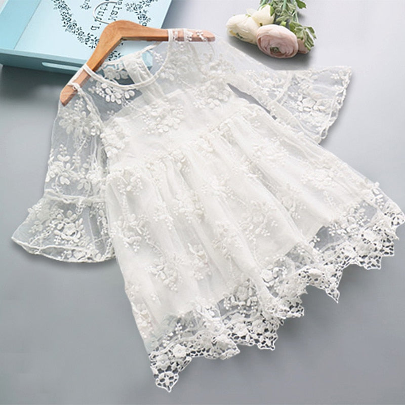 Vintage flower lace dress