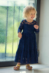 Vintage lace gown - Navy