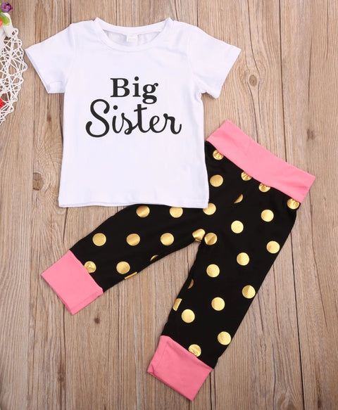 Big sister polka dot set