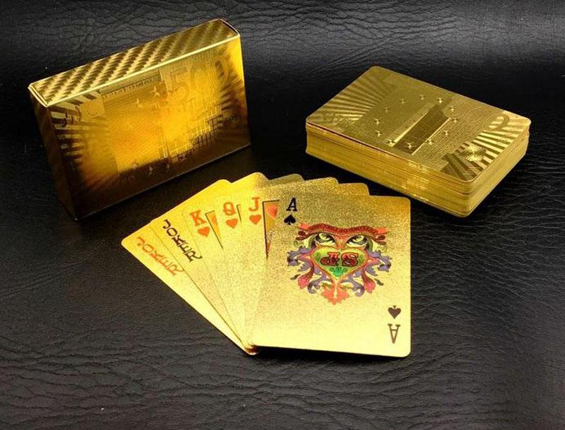One Deck Gold Foil Playing Cards