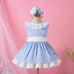 Pettigirl Summer Boutique Kids Dresses for Girls Patchwork Baby Blue Tulle Sleeveless Dress Baby Kid Clothes G-DMGD001-1294